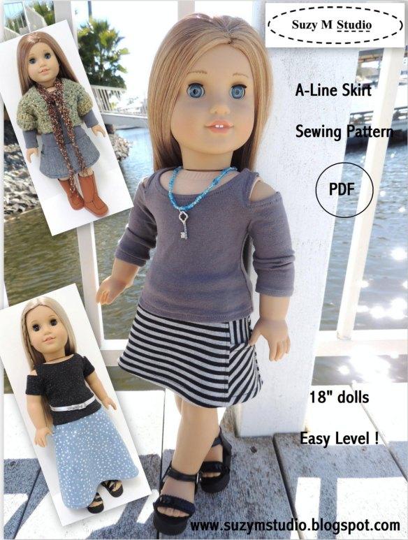 suzymstudio A-Line Skirt