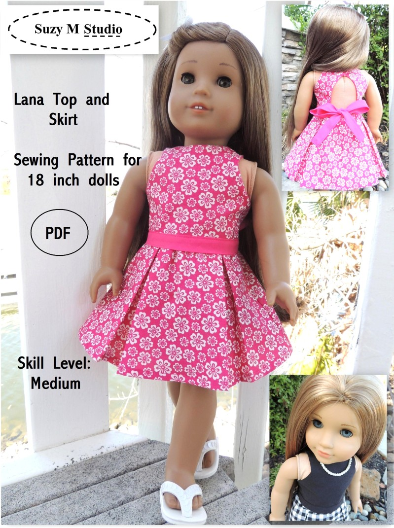 This is a picture of Clean 18 Doll Clothes Patterns Free Printable