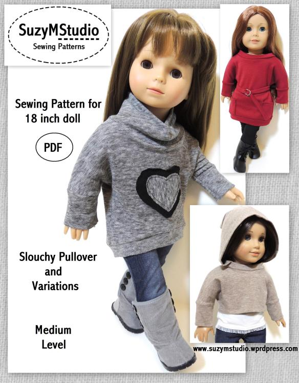 Slouchy Pullover and Variations Pattern SuzyMStudio
