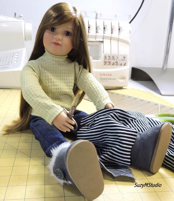 Slim 18 inch doll SuzyMStudio