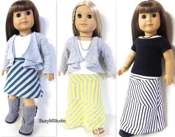 Maxi Skirt Sewing Pattern SuzyMStudio