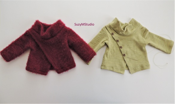 Front Wrap Sweater Sewing Pattern 18 inch dolls SuzyMStdudio