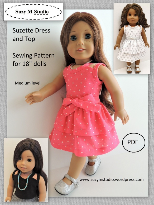 Suzette Dress and Top sewing pattern SuzyMStudio